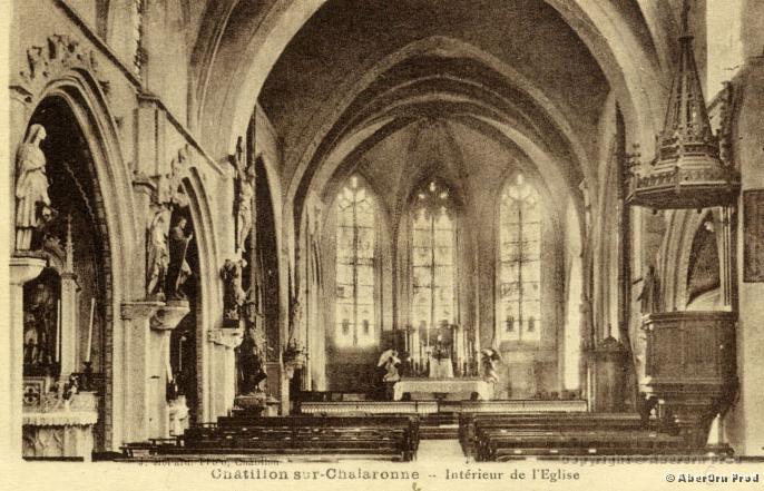 intérieur de l'église de Châtillon