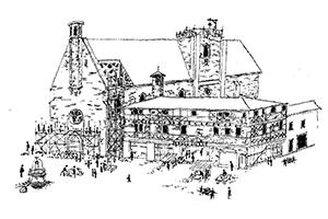 Septembre 1488 : église St André de Châtillon en construction