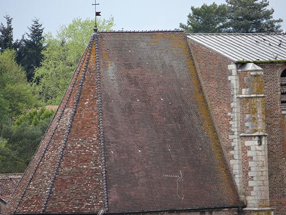 toiture de l'église