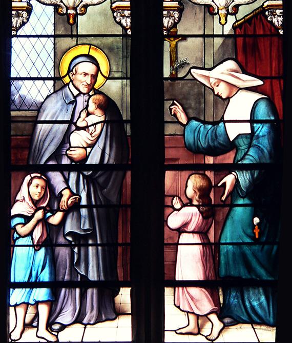 Vitrail représentant Saint Vincent